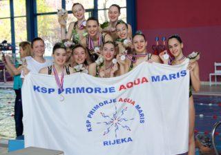 Riječke sinkro plivačice uspješne na Državnom juniorskom prvenstvu