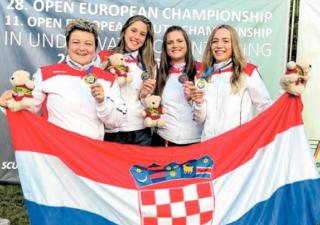 Hrvatskoj ženskoj reprezentaciji zlato na Euru u podvodnoj orijentaciji