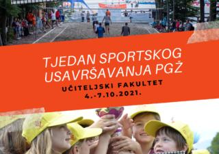 Počinje Tjedan sportskog usavršavanja PGŽ 2021.